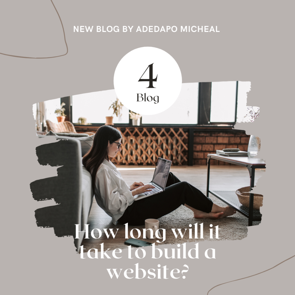 How long will it take to build a website picture
